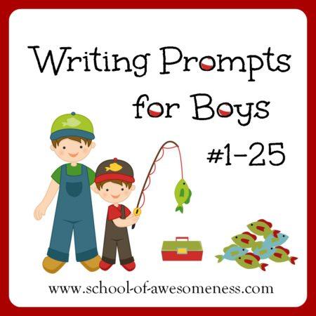 writing ideas for boys