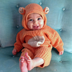 Knitted Baby Bear Suit